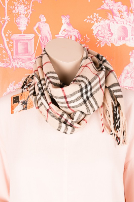 Cashmere camel scarf from Burberry