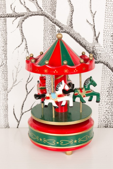 Music box carousel in wood